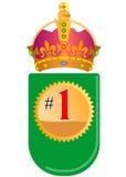 nummer ett över hela världen royaltyfri illustrationer