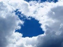 Nummer ett i molnen Arkivfoto