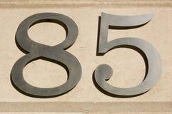 nummer för åttio fem Fotografering för Bildbyråer