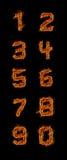 nummer för 0 9 brand Arkivfoton