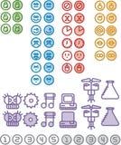 nummer för 2 symboler stock illustrationer