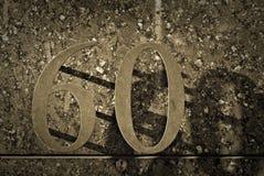 nummer för 60 metall Arkivbilder