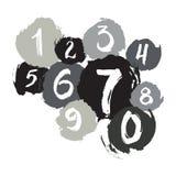 Nummer för färgpulvergrungetextur Royaltyfria Bilder