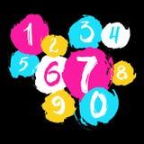 Nummer för färgpulvergrungetextur Royaltyfria Foton
