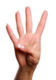nummer för fyra gest Fotografering för Bildbyråer