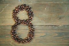nummer för kaffe åtta Royaltyfri Foto