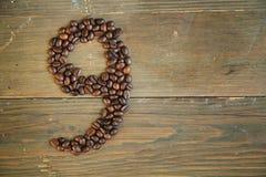 nummer för kaffe nio Arkivbilder