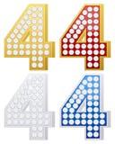 nummer för smycken fyra Arkivbild
