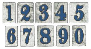 Nummer för tegelplattor för tappningNew Orleans gata stock illustrationer