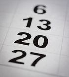Nummer för tjugo kalender Fotografering för Bildbyråer