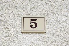Nummer fem av information Royaltyfria Foton