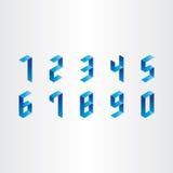 Nummer från 0 till designen 9 3d Fotografering för Bildbyråer