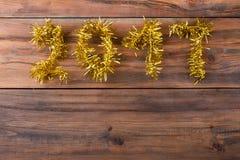 Nummer 2017 Gelukkige Nieuwjaarachtergrond Stock Afbeelding