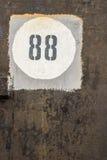 Nummer 88 i tappningvitsvart Arkivfoton