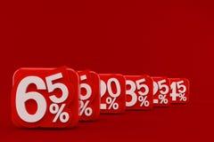 Nummer med procentsymbol Royaltyfri Foto