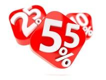 Nummer med procentsymboler royaltyfri illustrationer