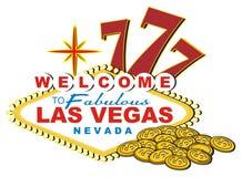 Nummer 777 met twee voorwerpen Stock Afbeelding