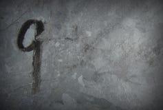 Nummer 9 negen met teller op de oppervlakte van het grungemetaal Stock Fotografie