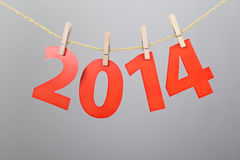 Nummer 2014 Nieuwjaardecoratie Stock Fotografie
