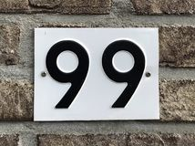 Nummer nittionio - 99 Royaltyfri Foto