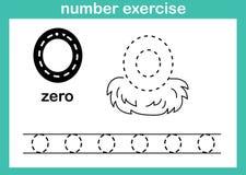 Nummer nul oefening stock illustratie