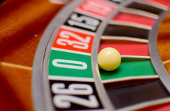 Nummer nul roulette Stock Foto's