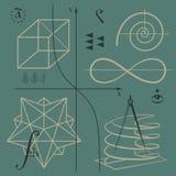 Nummer och funktioner Arkivfoto