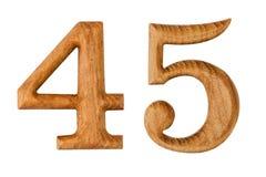 Nummer 4 och 5 Gjort från trä Arkivfoton
