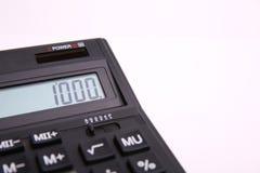 Nummer 1000 op het calculatorscherm stock afbeelding