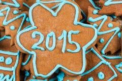 nummer 2015 på kakan Arkivbild
