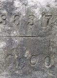 Nummer på konkret yttersida Arkivbild