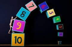 Nummer på kuber Fotografering för Bildbyråer