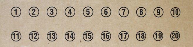 Nummer på papp Royaltyfria Foton