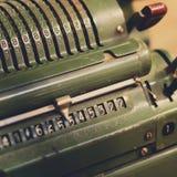 Nummer på räknare/gammal maskinerimakro/tappningteknologi Royaltyfri Foto