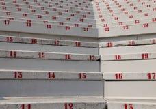 Nummer på stadionblekarna som indikerar en plats på händelser Royaltyfria Bilder