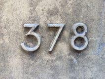Nummer på väggen Arkivbilder