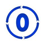 Nummer 0 pictogram stock illustratie