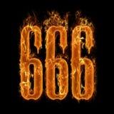 nummer s för 666 jäkel Arkivfoto