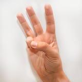 Nummer sex i språket för amerikanskt tecken & x28en; ASL& x29; Royaltyfria Bilder