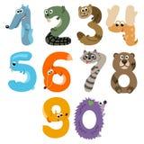 Nummer som europén Forest Animals vektor illustrationer