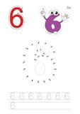 Nummer spelar för diagram sex stock illustrationer