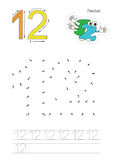 Nummer spelar för diagram tolv stock illustrationer
