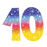 Nummer tien vector illustratie