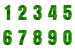 Nummer 0 till alfabet 9 Royaltyfria Foton