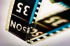 Nummer tio för cine-film royaltyfri foto
