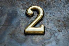 Nummer två som märker Fotografering för Bildbyråer
