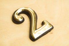 Nummer Twee die van letters voorzien Stock Foto's