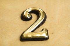 Nummer Twee die van letters voorzien Stock Fotografie