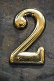 Nummer Twee die van letters voorzien Royalty-vrije Stock Foto