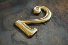 Nummer Twee die van letters voorzien Royalty-vrije Stock Afbeelding